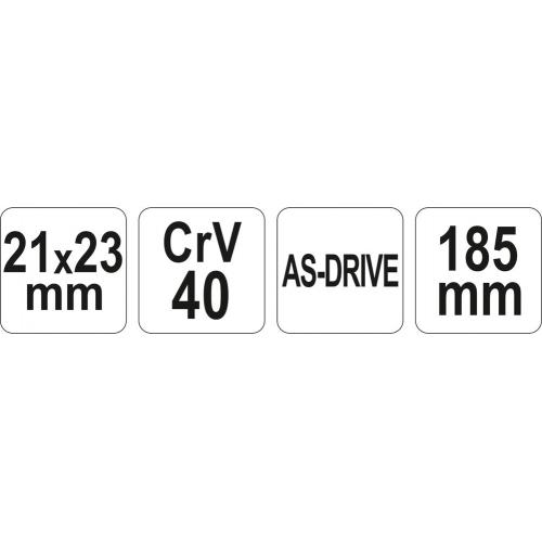 CHEIE pt.TEVI 21X23MM,185MM CrV