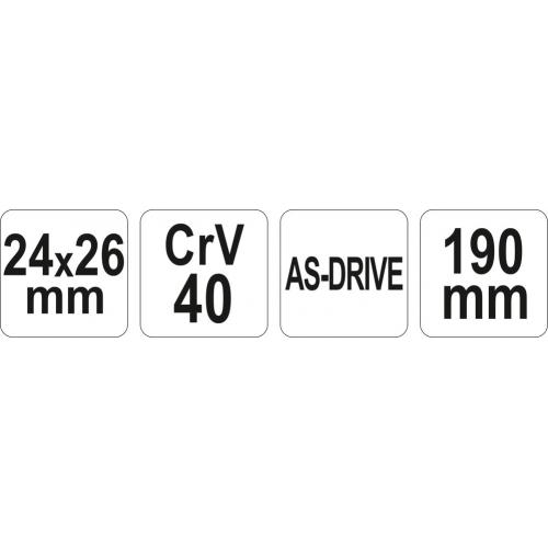 CHEIE pt.TEVI 24X26MM,190MM CrV