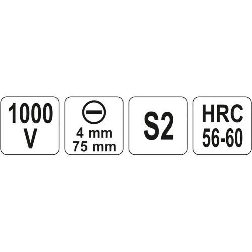 SURUBELNITA VDE 1000V,4X75MM