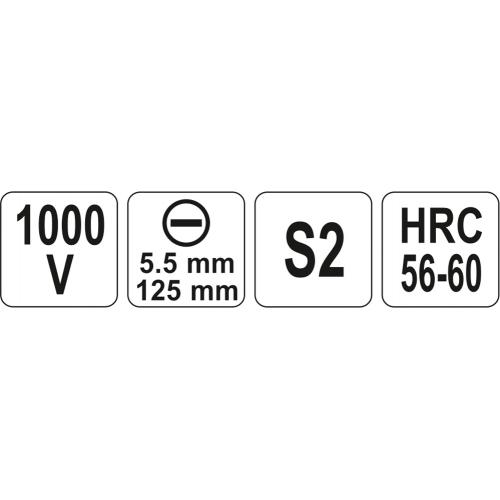SURUBELNITA VDE 1000V,5.5X125MM