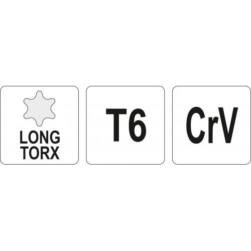 KLUCZ TORX DŁUGI T6