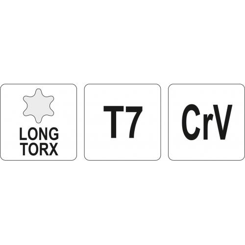 KLUCZ TORX DŁUGI T7