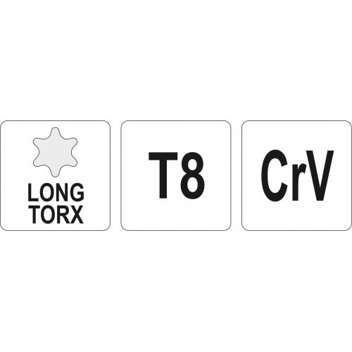 KLUCZ TORX DŁUGI T8