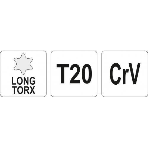 KLUCZ TORX DŁUGI T20