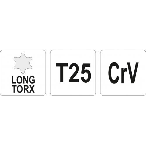 KLUCZ TORX DŁUGI T25