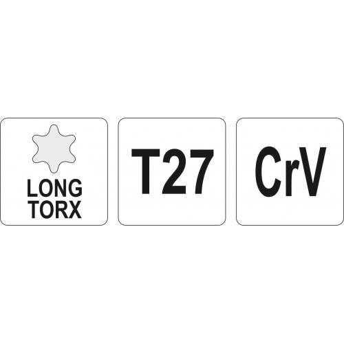 KLUCZ TORX DŁUGI T27