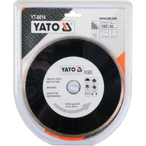 Disc diamantat EN 180 mm