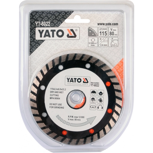 Disc diamantat TURBO 115 mm