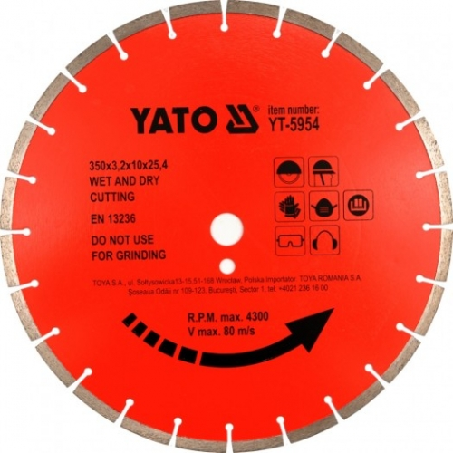 Disc diamantat segmentat pt beton, 450x25,4mm