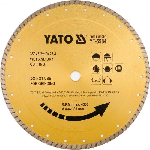 Disc diamantat pt ceramica, 350x25,4mm