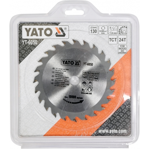 Tct circular saw blade for cutting wood 130x24x16 mm