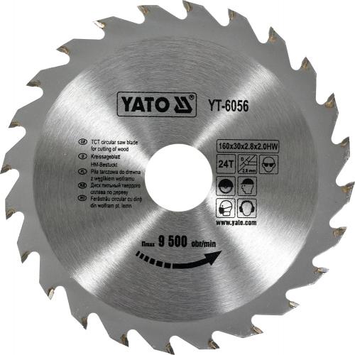 Pinza circular wolfram pt lemn, 160*30*2,8 mm
