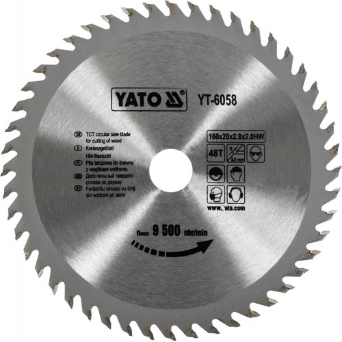 Pinza circular wolfram pt lemn, 160*20*2,8 mm