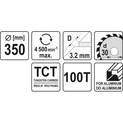 DISC FIERASTRAU CIRC.WF PT AL350X30X100