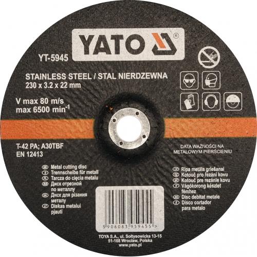 Inox cutting disc