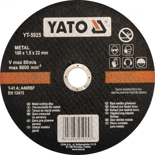 DISC DEBITAT METALE 180X1.5X22MM
