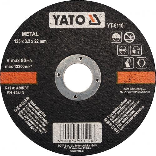 DISC TAIAT METAL 125X3.2X22MM