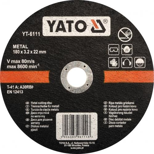 DISC TAIAT METAL 180X3.2X22MM