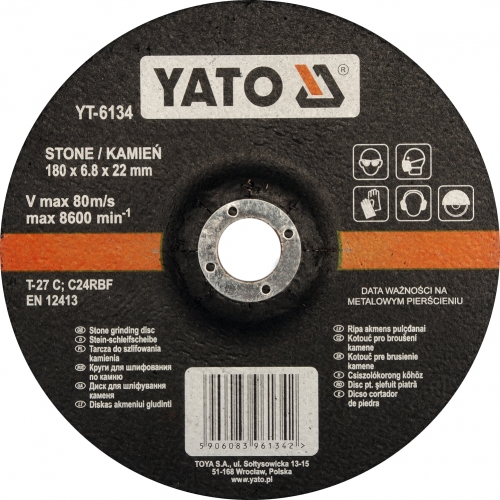 Stone grinding disc