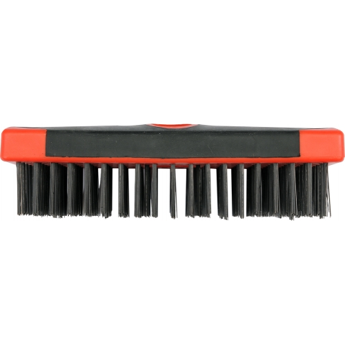 Soft grip wire brush