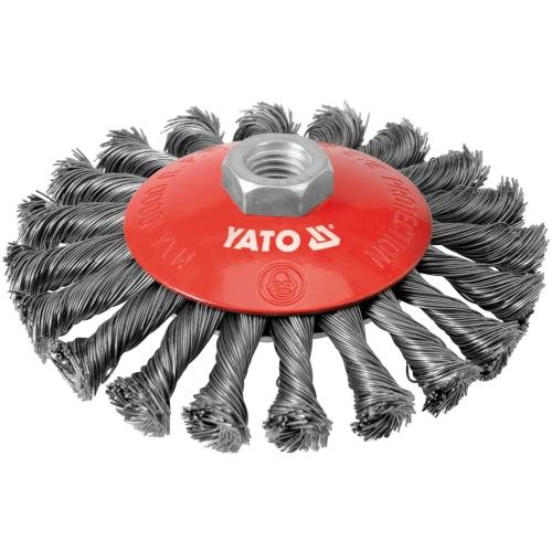 Perie circulara cu toroane, inox, 125mm