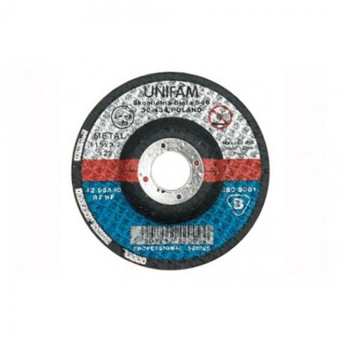 DISC DEPRESAT PENTRU DEBITAT METALE 115X3,2X22 MM