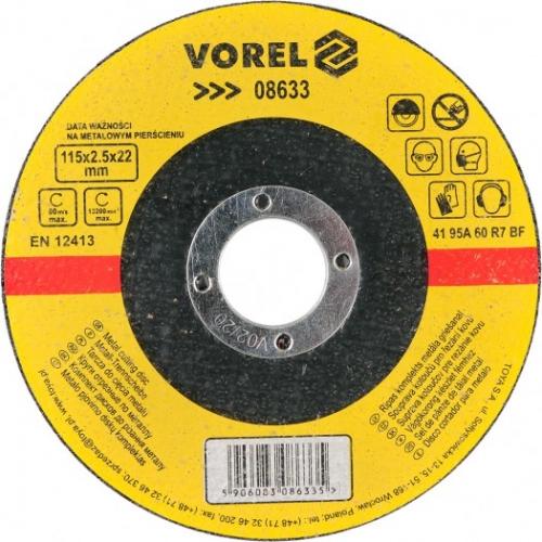 DISC PENTRU TAIAT METAL 115X2,5X22 MM