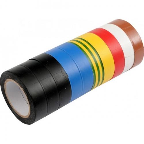 SET 10 BUCATI BANDA IZOLATOARE PVC 15MMX0,13MMX10M