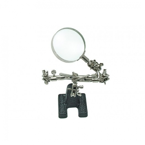 Helping hand with magnifying glass 62 mm