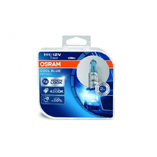 Set de 2 becuri OSRAM H1 12V 55W P14,5s COOL BLUE INTENSE