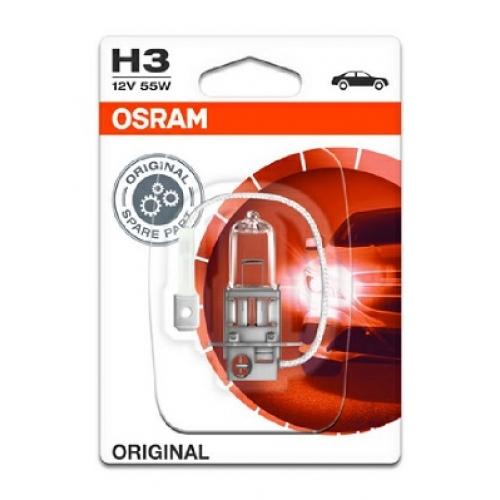 Bec OSRAM H3 12V 55W PK22s (BLISTER)