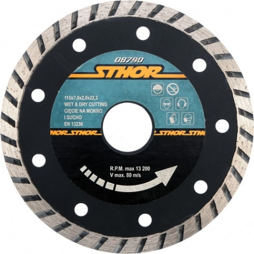 DISC DIAMANTAT TURBO 115X2.7MM H7