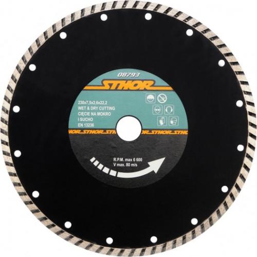 DISC DIAMANTAT TURBO 230X2.6MM H7,5