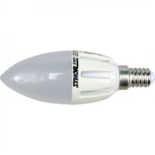 ŻARÓWKA LED C37, E14, 3W, 230V, 3000K
