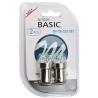 Bec LED M-TECH R5W, R10W - BA15s (8x LED 5mm - 0.575W Alb) Blister x 2buc