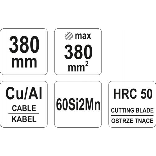 CLESTE PT CABLURI CU-AL 380MM/380MM