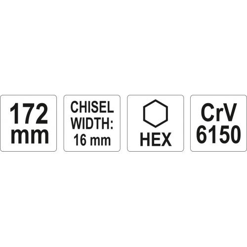 DALTA 16MM, L=172MM, CR-V