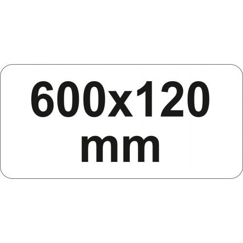 PRESA TIP F CU CLICHET, 600X120MM