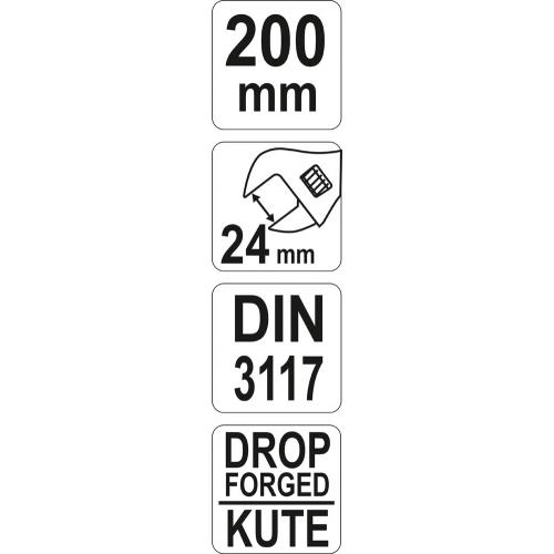 Klucz nastawny 200mm