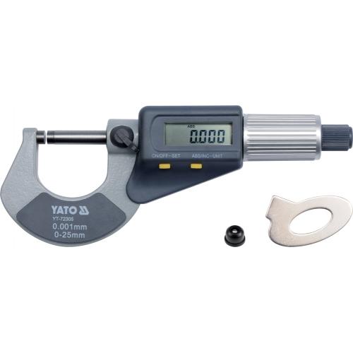 Mikrometr 0-25mm z wyświetlaczem cyfrowym