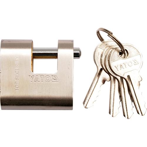 Stainless armored padlock