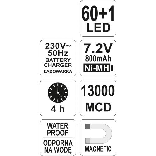 LAMPA CU LED FARA CABLU 7.2V,800mAh