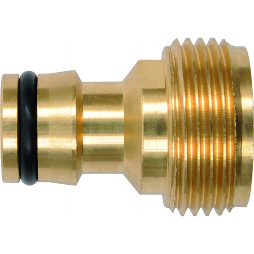 Male connector, brass 3/4''
